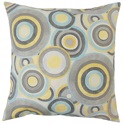 The Pillow Collection Huey Geometric Mineral Pillow, 20″ by 20″
