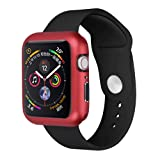 SHL Magnetic Frame Watch Case Protective Cover For Apple Watch iWatch Series 4 (44mm, red) (Color: red, Tamaño: 44mm)