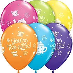 """TEN You're Tea-Riffic Colorful 11"""" Latex balloons Birthday Party Baby Shower Graduation Luncheon"""