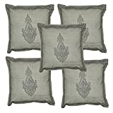 Home Decor Cotton Cushion Cover Adorn With Hand Block Print Work 16 X 16 Inches