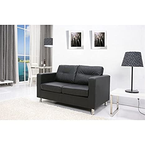 Detroit Loveseat Color: Black