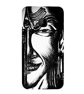 Graphical Painting Art Cute Fashion 3D Hard Polycarbonate Designer Back Case Cover for HTC One M9 :: HTC One M9S :: HTC M9 :: HTC One Hima