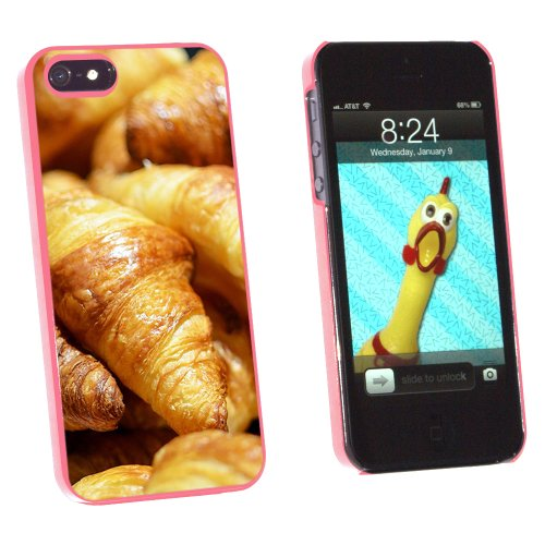 Croissants Bread - France Paris - Snap On Hard Protective Case for Apple iPhone 5 5S - Pink