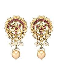 Amethyst By Rahul Popli White Gold Plated Stud Earrings - B00OYSBD8M
