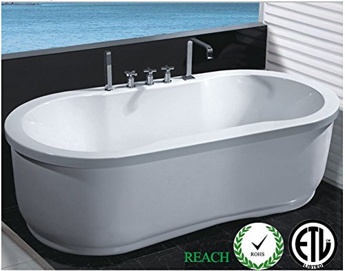 Freestanding Jetted Massage Hydrotherapy Bathtub Indoor Whirlpool