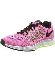 Nike Air Zoom Pegasus 32 Womens Pink Black Green Running Sneakers WIDE