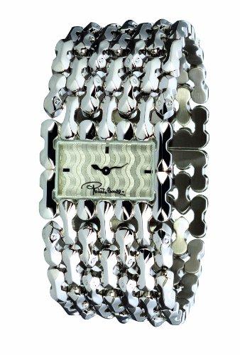 Roberto Cavalli 'Oryza' 7253124015 - Reloj de mujer de cuarzo, correa de acero inoxidable color plata