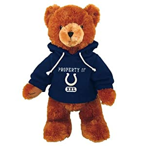 """Basic Fun 25"""" Standing NFL Hoodie Bear - Indianapolis Colts"""