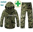 1Set TAD Gear Tactical Softshell military Sharkskin combat suit jacket pants men outdoor camouflage waterproof Jacket +Pants