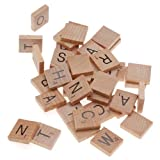 Beadaholique100-Piece Wood Scrabble  Rectangle  Tile Pendant, 18 by 20mm