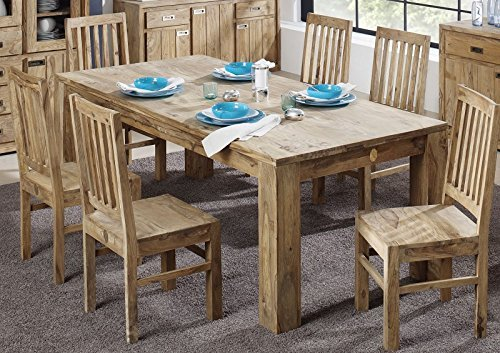 In palissandro massiccio oliato mobili tavolo da pranzo 260 x 100 Sheesham legno massiccio marrone Nature Brown #829