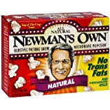 Newman's Own Natural Microwave Popcorn 10.5 oz (Pack of 12)