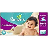 Pampers Cruisers Diapers Giant Pack, Size 4, 112 Count