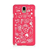 HSD Ultra Slim Fit Cartoon Pattern Plastic Hard Case for Samsung Galaxy Note 3 III N900 / N9000/ N9005 (Hot Pink)