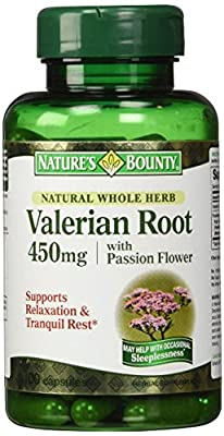 Nature's Bounty Valerian Root with Passion Flower -- 450 mg - 100 Capsules