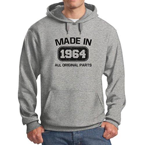 Teestars Men'S - Made In 1964 Hoodie Xx-Large Grey