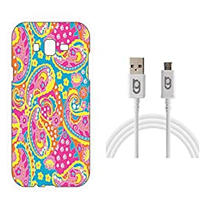 Designer Hard Back Case for Samsung Galaxy J7 with 1.5m Micro USB Cable