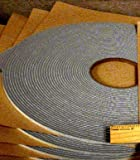 "SSP Gray Door Sound Proofing Tape 1/4"" to 1/2"" widths (25 ft- 1/4"" wide)"