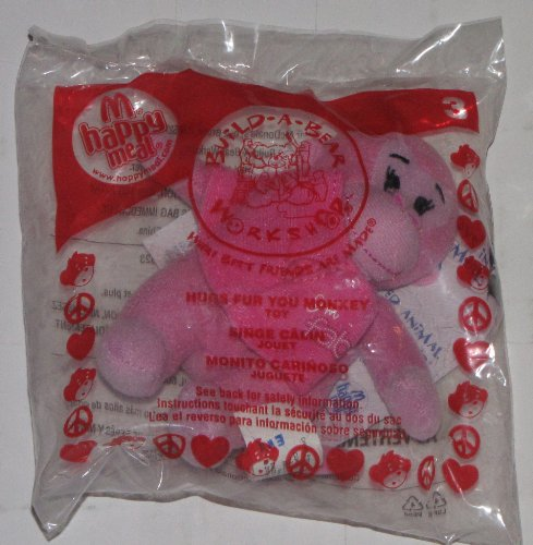 Mcdonalds Happy Meal Toy Build a Bear Workshop Hugs Fur Your Monkey Collectible - 1