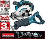 MAKITA BSS610Z 18V 165mm Cordless Circular Saw Plus BJR181Z 18V LXT Li-Ion Reciprocating Saw (Body Only)