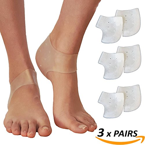 Heel Pain Gel Pads Inserts Plantar Fasciitis Treatment Sore Feet Bruised Foot Bone Spurs Relief (3 Pairs) (Fix My Ca compare prices)