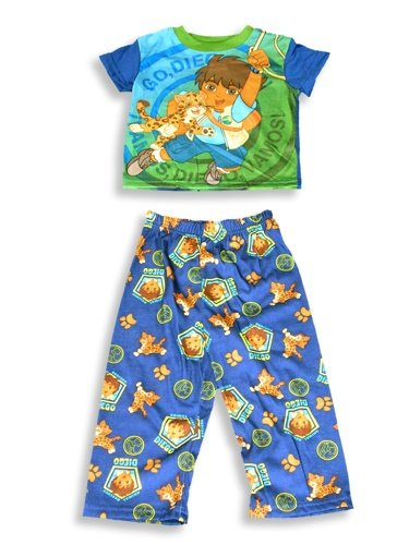 Buy Go Diego Go by Nick Jr. – Toddler Boys Short Sleeved Pajamas, Blue, Multi