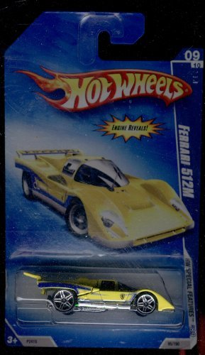 Hot Wheels 2009-09 of 10 Ferrari 512m 1:64 Scale - 1