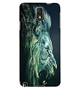 ColourCraft Roaring Lion Design Back Case Cover for SAMSUNG GALAXY NOTE 3