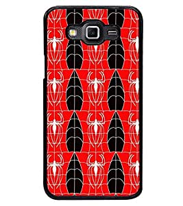 Printvisa Red And White Spider Pattern Back Case Cover for Samsung Galaxy Grand 3 G720