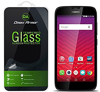 Huawei Union Glass Screen Protector, Dmax Armor® [Tempered Glass] Ballistics Glass, 0.3mm 9H Hardness, Anti-Scratch, Anti-Fingerprint, Bubble Free, Ultra-clear - Retail Packaging