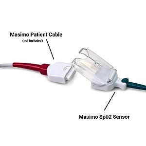 Masimo Sp02 Y-Lingual Sensor, 3 ft, for use with SunTech Vet30 & Vet30E