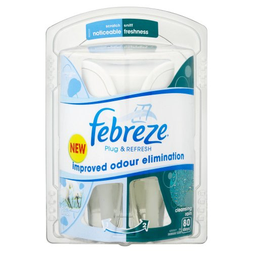 Febreze cotton fresh air freshener plug in starter kit for Air freshener plug in