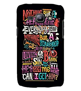 Printvisa Premium Back Cover Multiple Quotes Pic Design For Samsung Galaxy J1::Samsung Galaxy J1 J100F