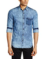 Yellow Jeans Men's Fit Casual Shirt