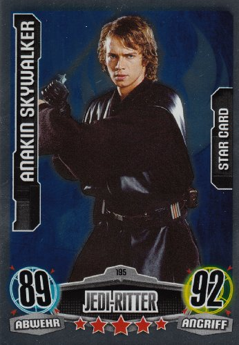 Star Wars Force Attax Movie Cards Einzelkarte 195 Anakin Skywalker Jedi-Ritter Star-Karte deutsch