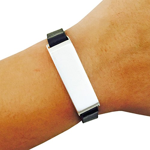 fitbit bracelet flex fitness trackers brushed metal alternative to tory burch. Black Bedroom Furniture Sets. Home Design Ideas