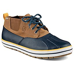 Sperry Top-Sider Men\'s Fowl Weather Chukka Rain Shoe, Navy/Dark Tan, 8.5 M US