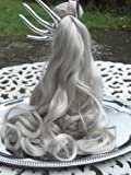 HAIR EXTENSIONS CLIP IN SET X X LONG 24 INS SILVER GREY