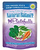 Natural Balance 3-Ounce Platefulls Cod, Chicken, Sole and Shrimp Formula in Gravy entree, 24-Pack
