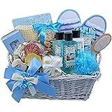 Art of Appreciation Gift Baskets Seaside Get A Way Ocean Mist Spa Bath and Body Gift Set