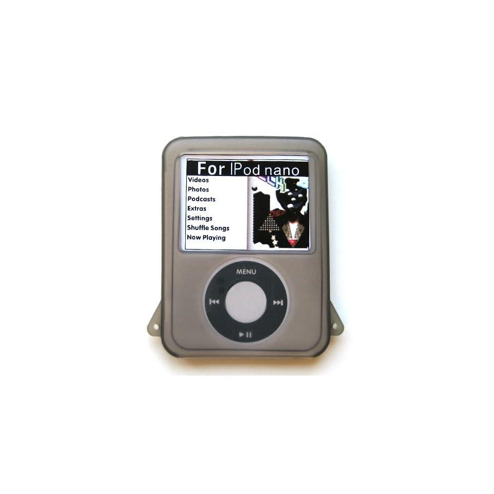 Apple iPod Nano 3 (3rd Generation) Soft Rubber Silicone Protector Skin Case Smoke Grey 05