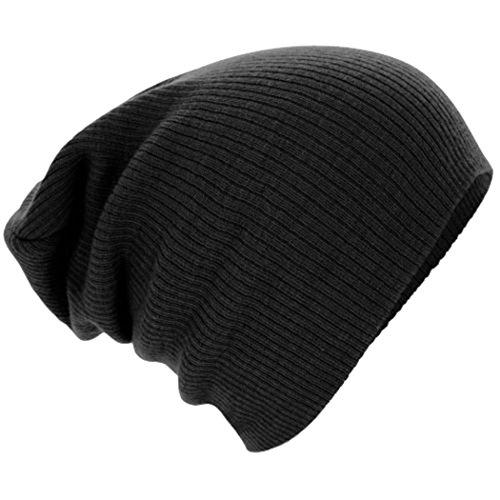 Century Star Women Men Warm Ski Knit Plain Slouchy Baggy Skull Hat Caps Beanie Black (Captain America Bucket Hat compare prices)