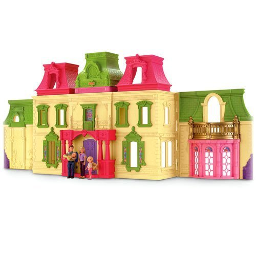 Game/Play Fisher Price Loving Family Dream Mega Set Dollhouse w/ Dolls & Furniture Kid/Child