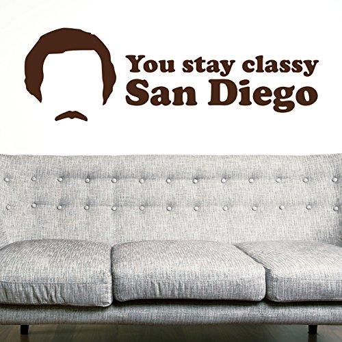 You Stay Classy Adesivo da parete by stickerstudio, Violet, Large 158cm x 58cm