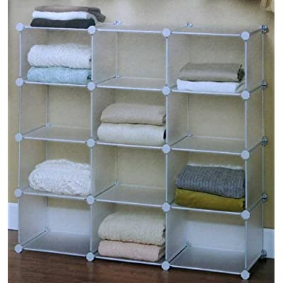 Amazon.com - Interlocking 12 Cube Organizer Storage - Cabinet Door
