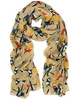 TrendsBlue Elegant Birds & Butterflies Print Fashion Scarf - Diff Colors Avail