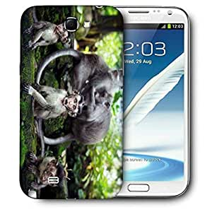Snoogg Monkey Babies Printed Protective Phone Back Case Cover For Samsung Galaxy Note 2 / Note II