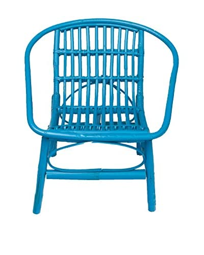 Mili Designs Indoor/Outdoor Rattan Chairs, Turquoise