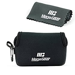 MegaGear ''Ultra Light'' Neoprene Camera Case Bag with Carabiner for Canon G16, G15, Sx170, Sx160, Sony DSC-HX60V...