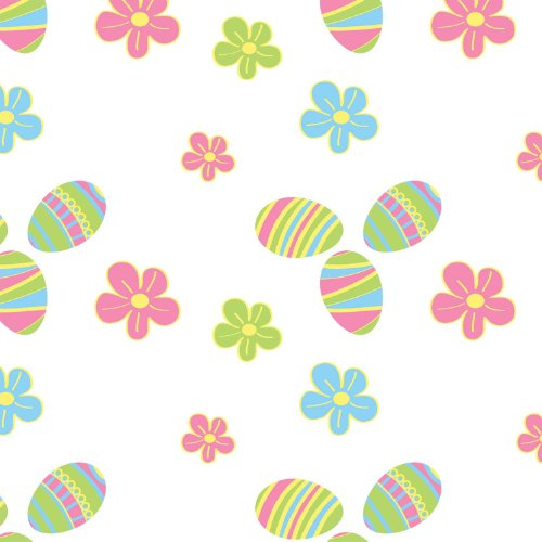 """Party Essentials Heavy Duty Printed Plastic Table Cover, 54 x 108"""", Easter"""